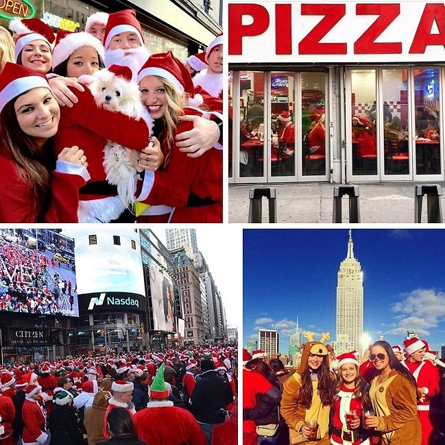 Instagram Roundup: NYC Santacon Collides With #MillionsMarchNYC