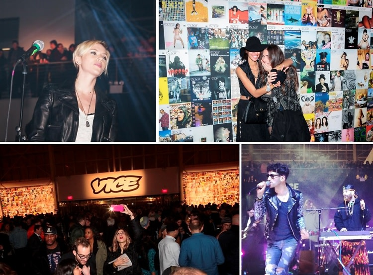VICE Turns 20 With A Hipster Heaven Warehouse Bash Featuring Surprise Performances By Scarlett Johansson & Jonah Hill