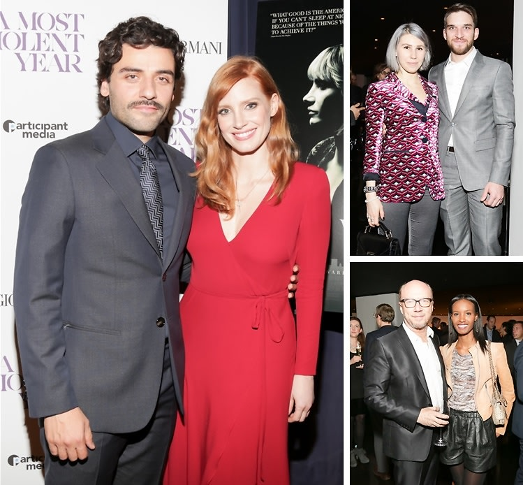 "Jessica Chastain & Oscar Isaac Attend The Premiere Of ""A Most Violent Year"" Presented By Giorgio Armani"