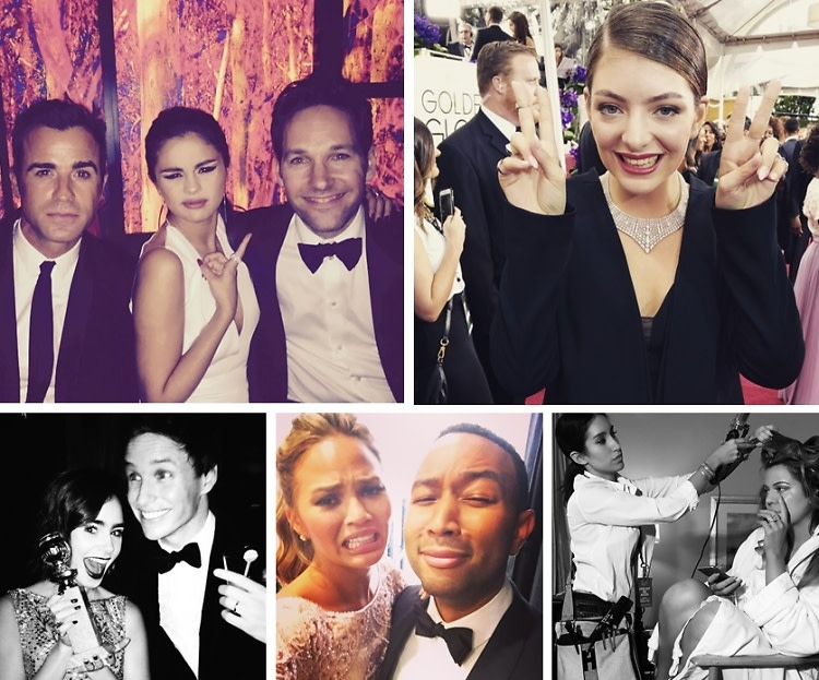 2015 Golden Globes: The Best Celebrity Moments On Instagram