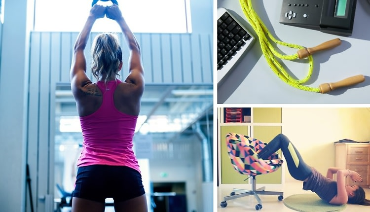 5 Quick Workouts You Can (Secretly) Do At The Office