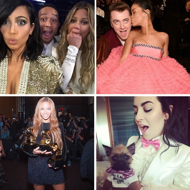 Instagram Round Up: The Best Celebrity Snaps At The 2015 Grammy Awards