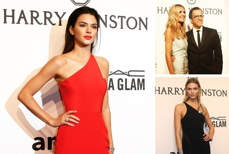Kendall Jenner & Heidi Klum Stun At The amfAR New York Gala