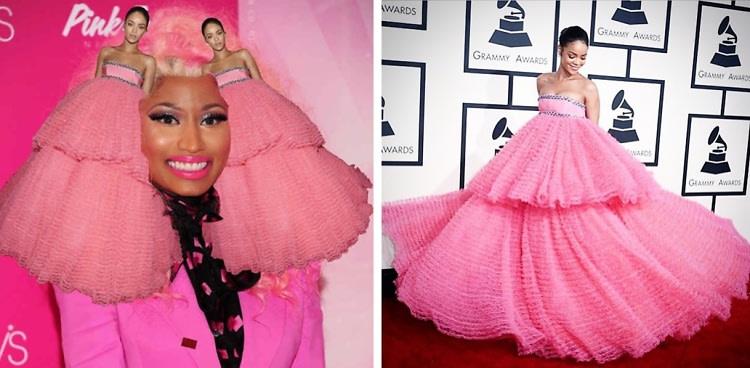 Rihanna's Grammys Dress Looks Like The Night's Biggest Meme