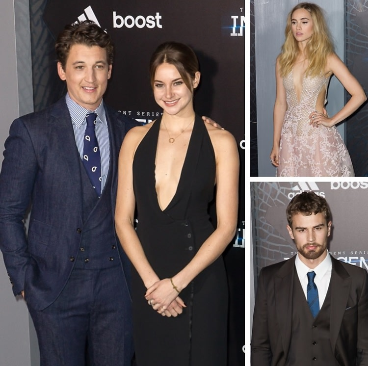 Shailene Woodley, Theo James & Ansel Elgort Attend The 'Insurgent' Premiere In NYC