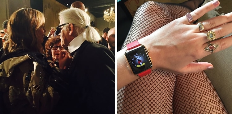 Beyonce & Karl Lagerfeld Have The Apple Watch Before You (Duh)