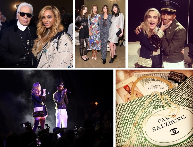 Cara Delevingne Performed With Pharrell At Chanel Métiers d'Art Last Night