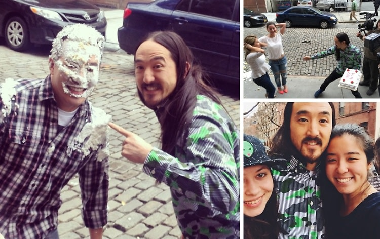 Watch Steve Aoki Cake Two Girls In The Face In Front Of Our Office