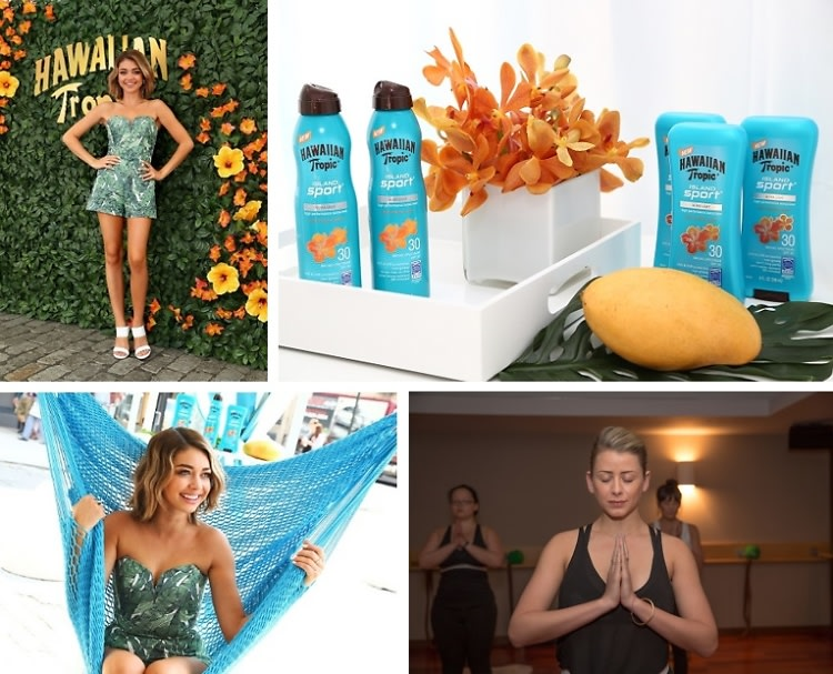 Lo Bosworth & Sarah Hyland Treat Themselves At The Hawaiian Tropic Escape Station