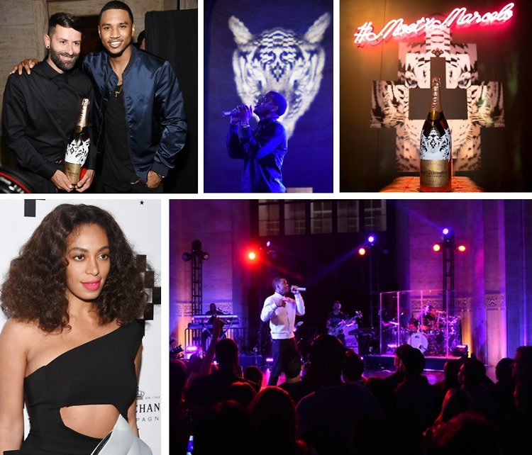 Solange & Trey Songz Attend The Moet Nectar Impérial Rosé x Marcelo Burlon Launch
