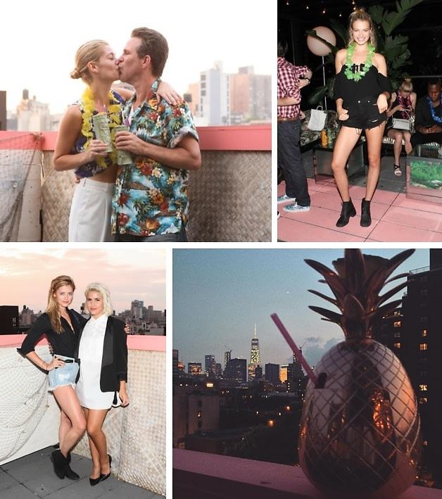 Zach Braff, Ben Watts & The ONE Models Celebrate Scott Lipps' Birthday At Tiki Tabu