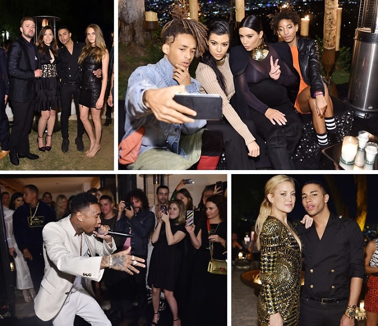 Kate Hudson & The Kardashian Klan Celebrate Olivier Rousteing's 30th Birthday In L.A.