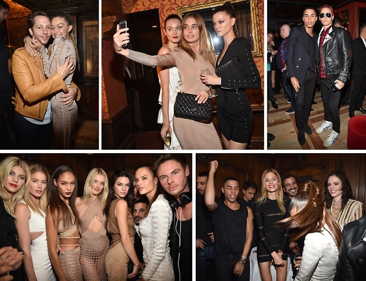 #BalmainArmy: Jared Leto, Gigi Hadid & Kendall Jenner Party In Paris