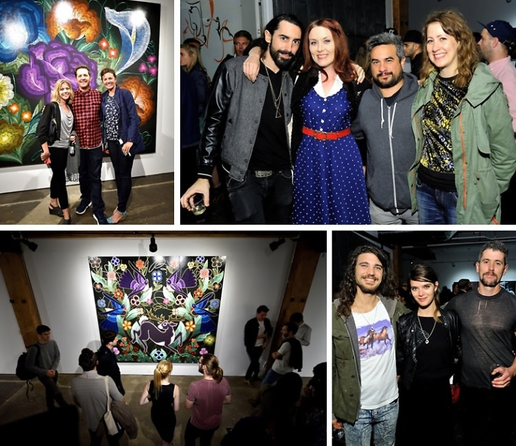 Inside The Joseph Gross Gallery 'Flores en Fuego' Opening Reception