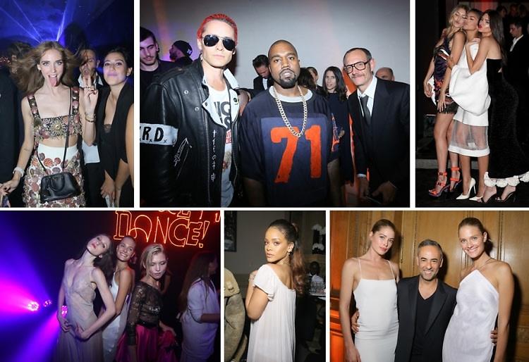 Rihanna & Kanye West Toast To 95 Years Of Paris Vogue