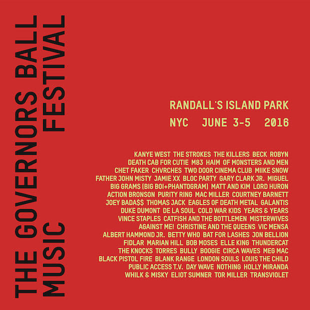 Governors Ball 2016