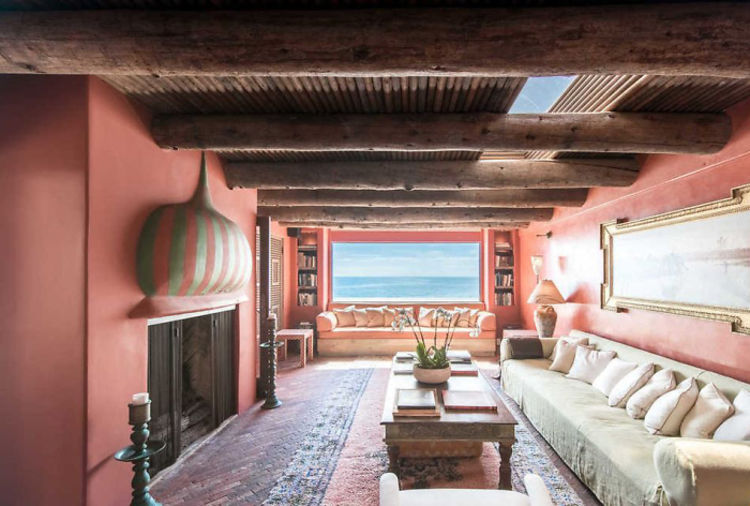 Rent sting 39 s malibu meets morocco beach house this summer for Malibu house rentals for weddings