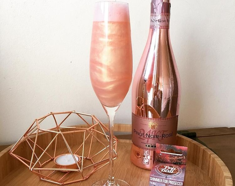 Introducing Rose Gold Shimmering Prosecco