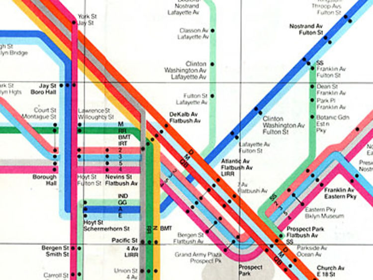 Riding In Style The NYC Subway Map