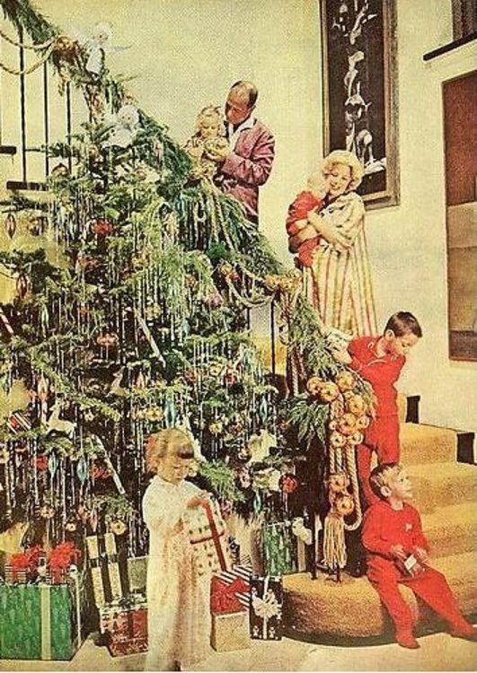 Vintage Christmas Card Wallpaper