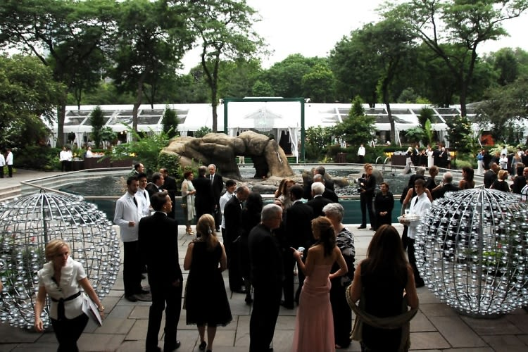 photo of the day the wildlife conservation society gala takes over the central park zoo. Black Bedroom Furniture Sets. Home Design Ideas