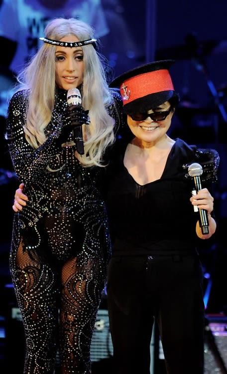 Lady Gaga & Yoko Ono, Two Freaks In A Pod