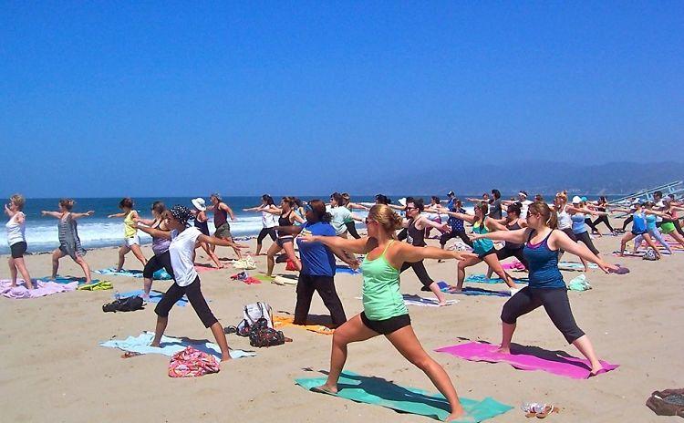 beach yoga with brad