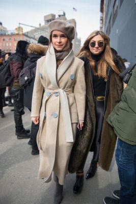 miroslava duma in New York Fashion Week Street Style: Day 2