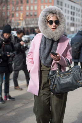morgan ohare in New York Fashion Week Street Style: Day 2