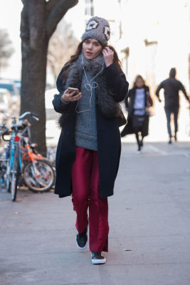 natalie suarez in New York Fashion Week Street Style: Day 3