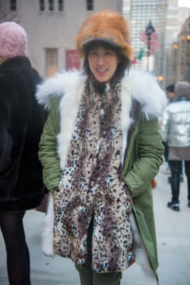 eva chen in New York Fashion Week Street Style: Day 3