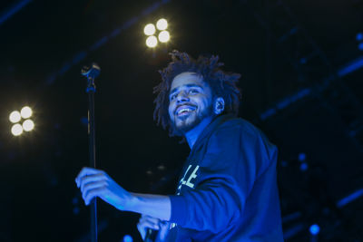 j cole in Shaun White's AIR + STYLE Los Angeles Festival