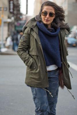 nausheen shah in New York Fashion Week Street Style: Day 1