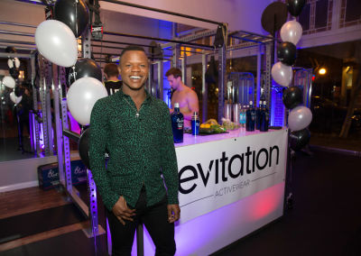 tory devon-smith in Levitation Activewear Cocktail Party at Mansion Fitness