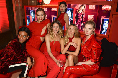 Supermodels Sizzle At The L'Oreal Paris Red Obsession Party