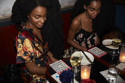 cipriana quann in Bingo Dinner at June Wine Bar