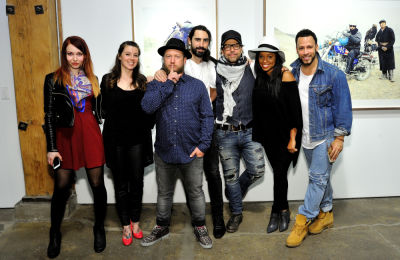 mashonda tifrere in Eagle Hunters exhibition opening at Joseph Gross Gallery
