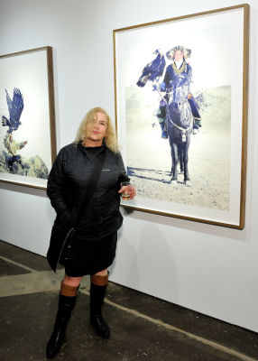 pamela parlapiano in Eagle Hunters exhibition opening at Joseph Gross Gallery