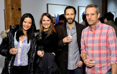 olivia redmond in Eagle Hunters exhibition opening at Joseph Gross Gallery