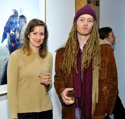 chloe pollack-robbins in Eagle Hunters exhibition opening at Joseph Gross Gallery