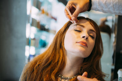 danielle victoria in Pre-Coachella Beauty Lounge at Brighton Salon with the #RIOTGirls