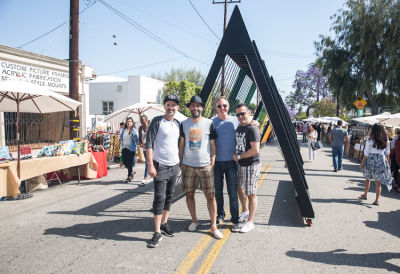 kam kamran in West Hollywood Design District A Street Af(fair)