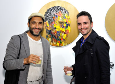 alexandre faouem in Art LeadHERS Exhibition Opening at Joseph Gross Gallery