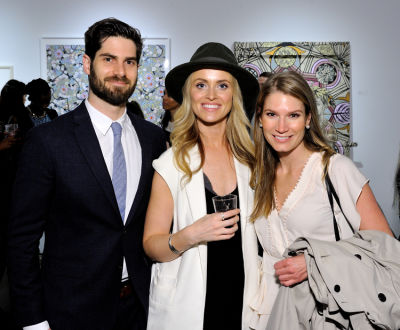 mike guenther in Art LeadHERS Exhibition Opening at Joseph Gross Gallery