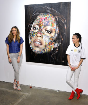 erkia fuertes in Art LeadHERS Exhibition Opening at Joseph Gross Gallery