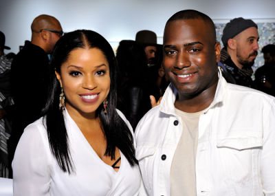 mashonda tifrere in Art LeadHERS Exhibition Opening at Joseph Gross Gallery
