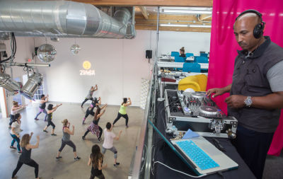 dj cornell-speights in  Zumba and Yoga at LA Mother