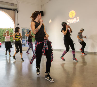 veronica ferrante in  Zumba and Yoga at LA Mother