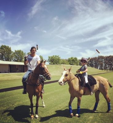 Nacho and son Artemio on horseback