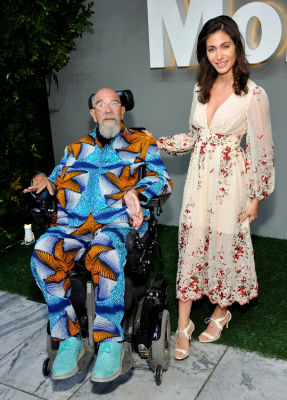 chuck close in MoMA Party in the Garden 2016